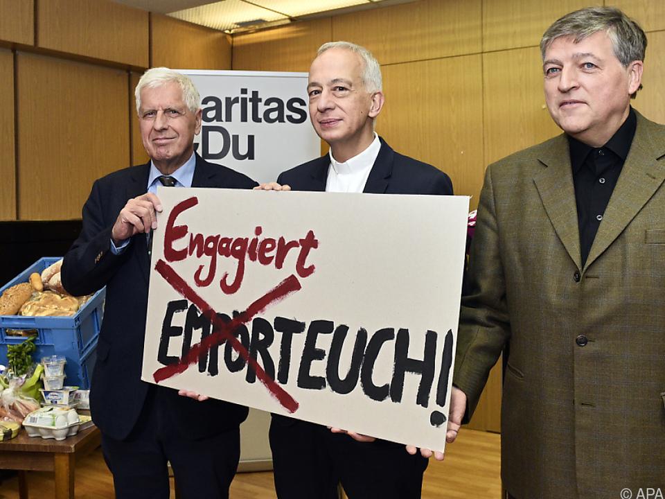 Caritas-Präsident Landau trat mit Vorgängern Küberl und Schüller auf