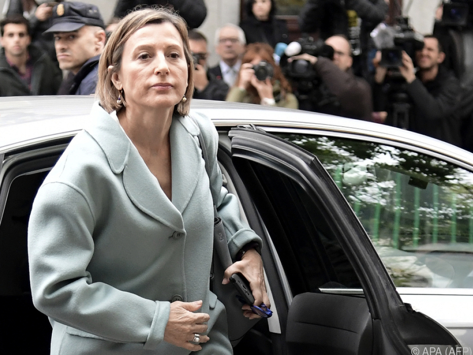 Carme Forcadell bei ihrer Ankunft vor dem Obersten Gericht
