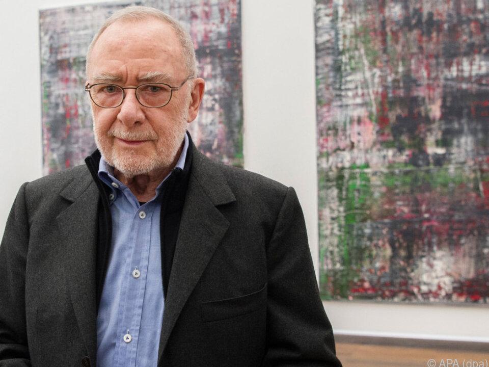 Der Deutsche Gerhard Richter hält sich konstant an der Spitze