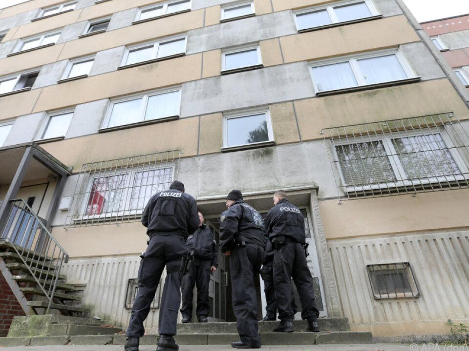 Der Syrer wurde in diesem Gebäude festgenommen