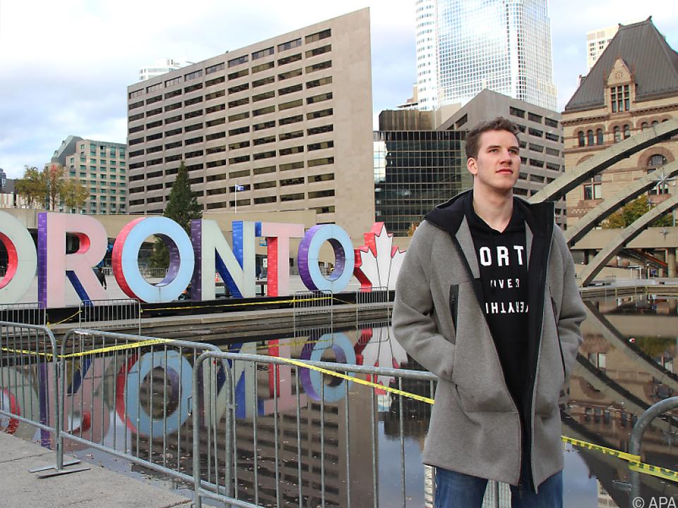 Der Wiener fühlt sich in Toronto sichtlich wohl