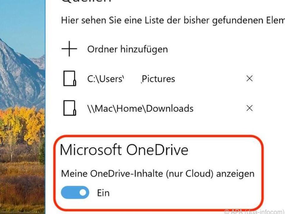 Die Verlinkung der Foto-App mit dem Cloud-Speicher lässt sich ausstellen