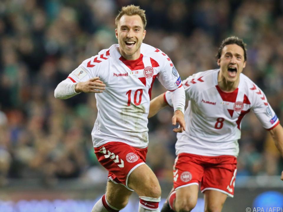 Ein Hattrick von Christian Eriksen sicherte Dänemark das WM-Ticket
