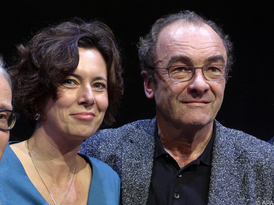 Eva Menasse mit ihrem Halbbruder Robert Menasse