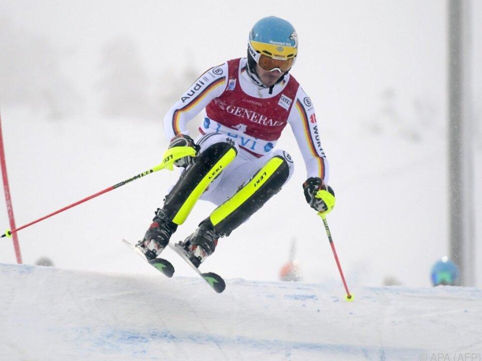 Felix Neureuther auf dem Weg zum Sieg