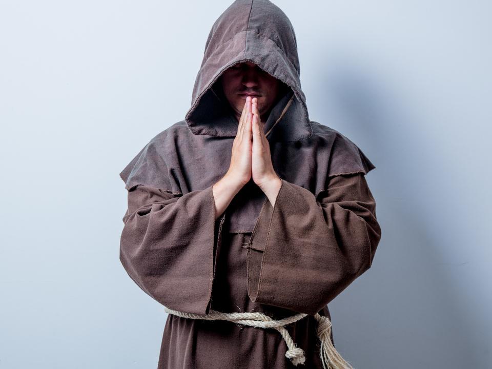 Katholischer Mönch Priester pfarrer religion