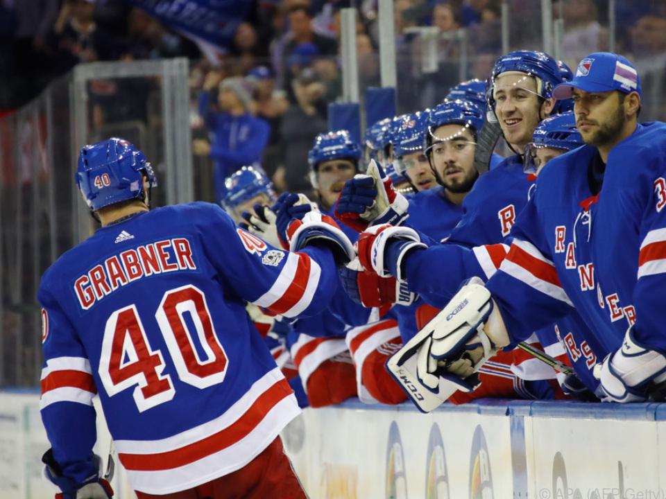 Grabner und NY Rangers legen gute Serie hin