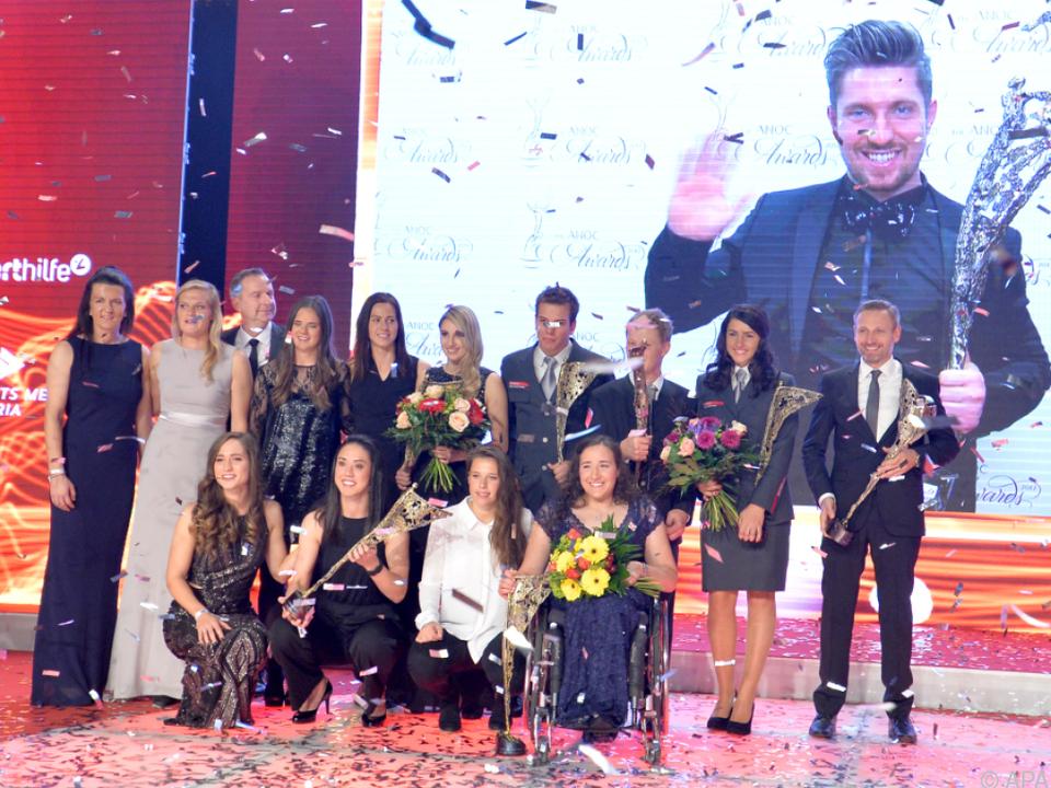 Gruppenfoto mit allen Preisträgern