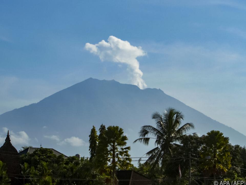 Im Inneren des Mount Agung brodelt es