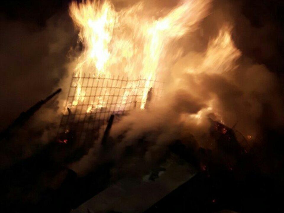 Holzlagerbrand Feuer leer