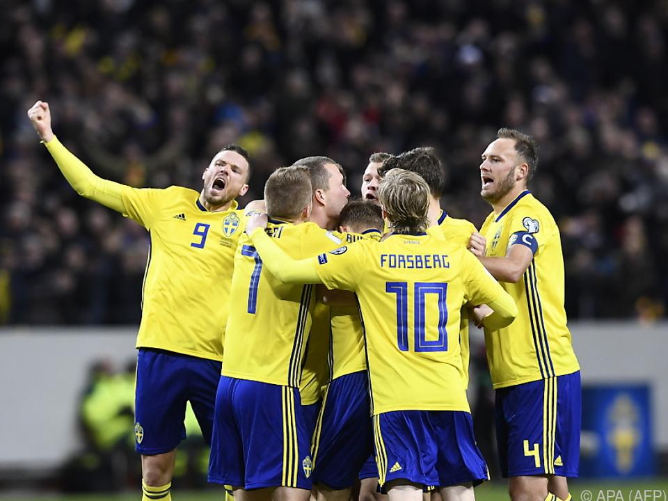 Jubel bei Überraschungssieger Schweden