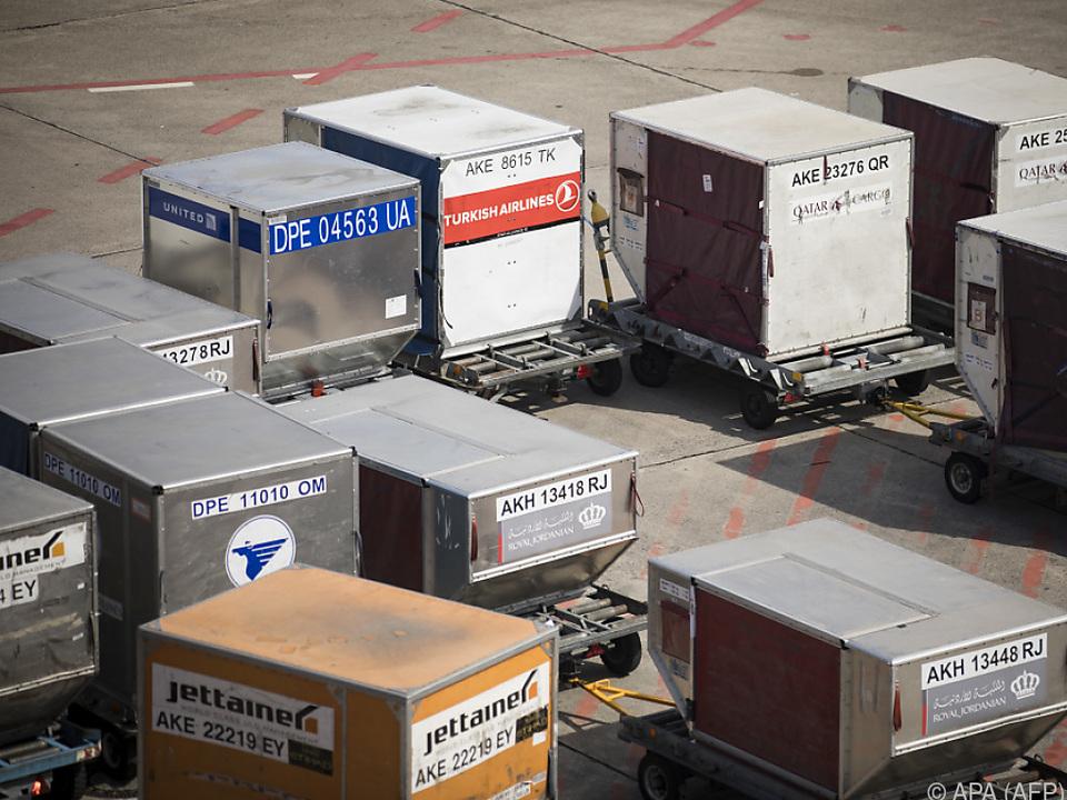Luftfracht auf dem Flughafen