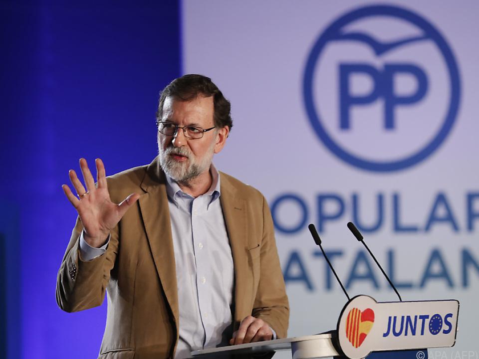 Mariano Rajoy appellierte an die schweigende Mehrheit