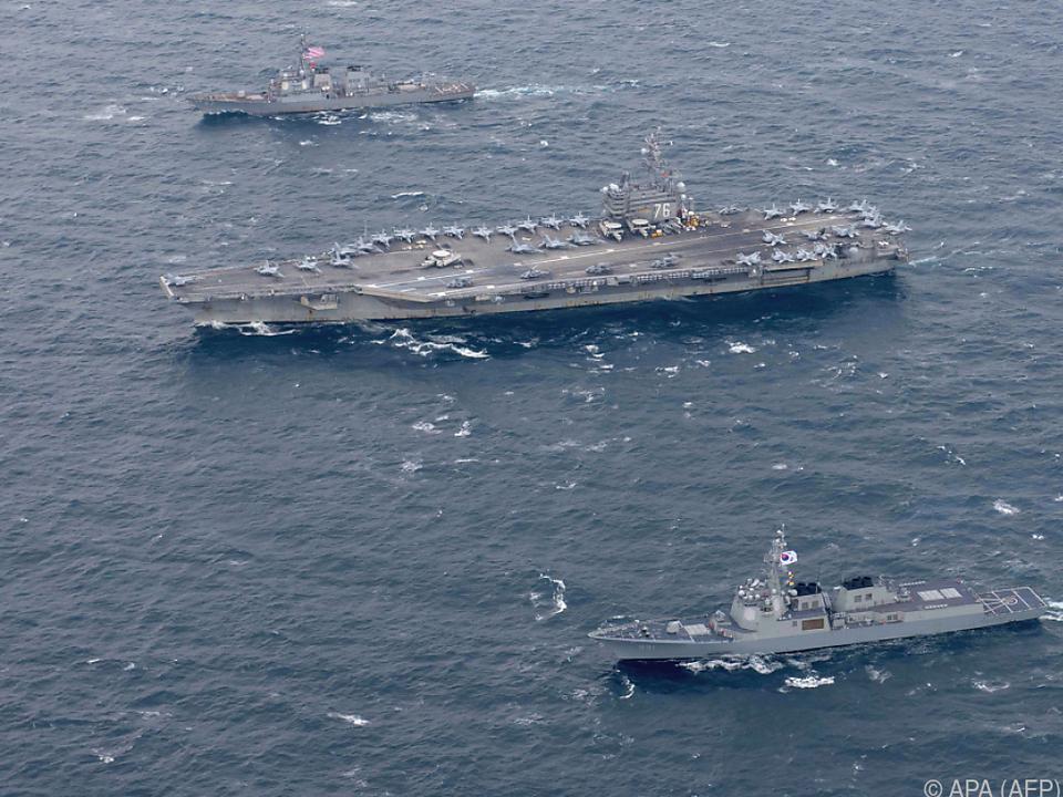 Mehrere Flugzeugträger sind beteiligt