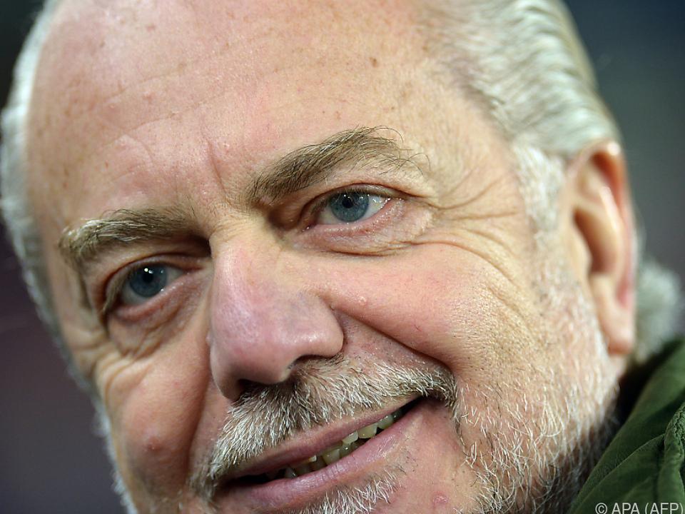 Napoli-Präsident Aurelio De Laurentiis wird angehört