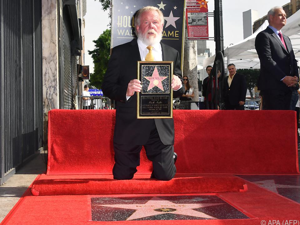 Nick Nolte erhält endlich Stern am Walk of Fame
