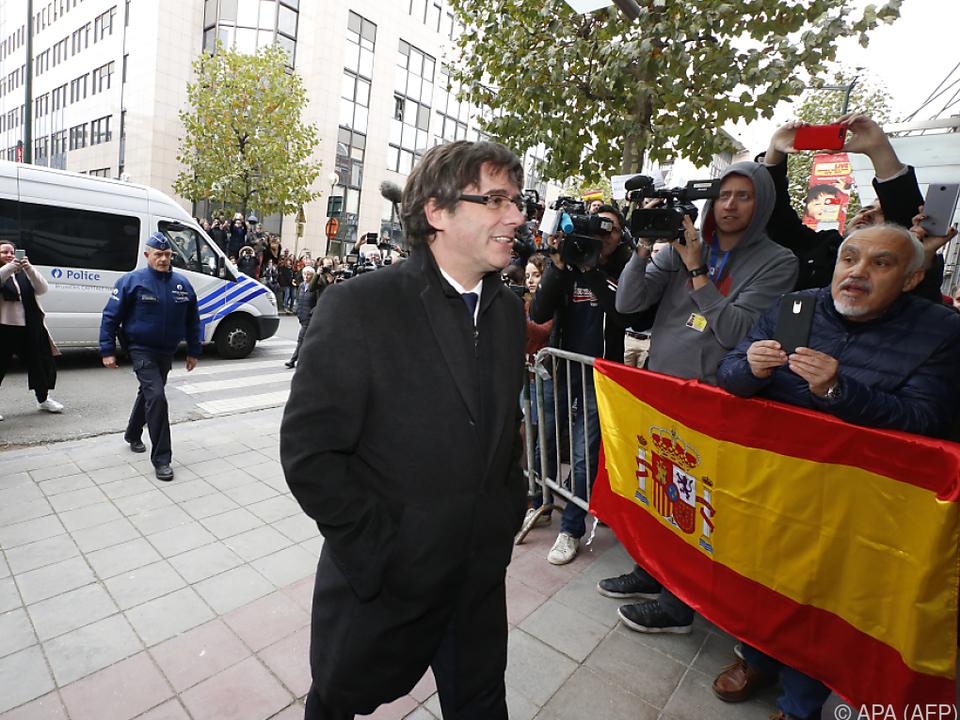 Puigdemonts Aufenthaltsort dürfte vorerst Brüssel bleiben