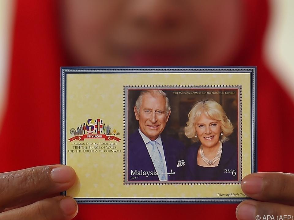 Royale Briefmarken aus Malaysia
