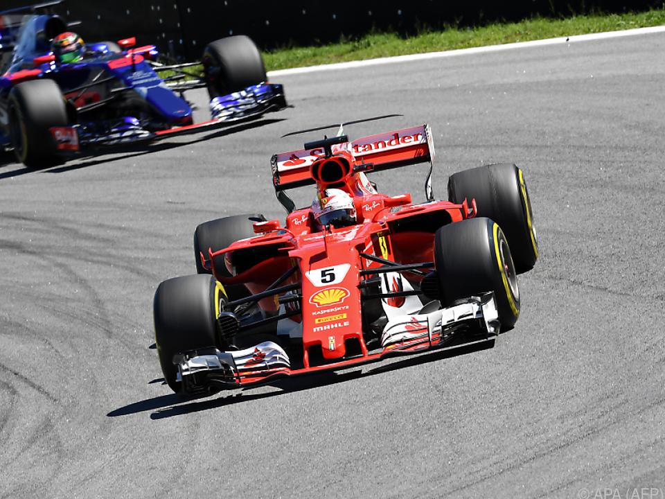 Sebastian Vettel gewann vor Valtteri Bottas und Kimi Räikkönen