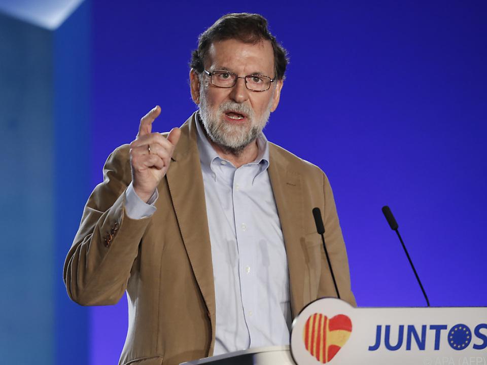 Spaniens Ministerpräsident Rajoy hofft auf pro-spanisches Signal bei der Wahl