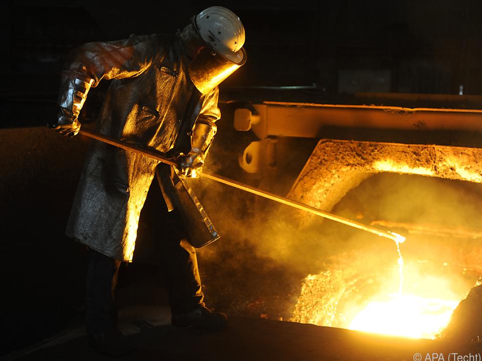 Stahlarbeiter der voestalpine
