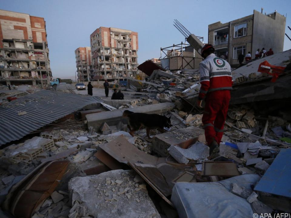 Suche nach weiteren Opfern in den Trümmern