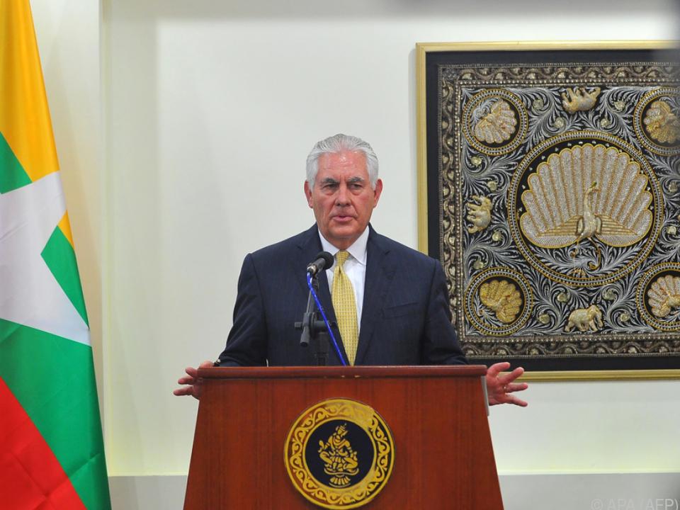 Tillerson glaubt nicht, dass Sanktionen ans Ziel führen