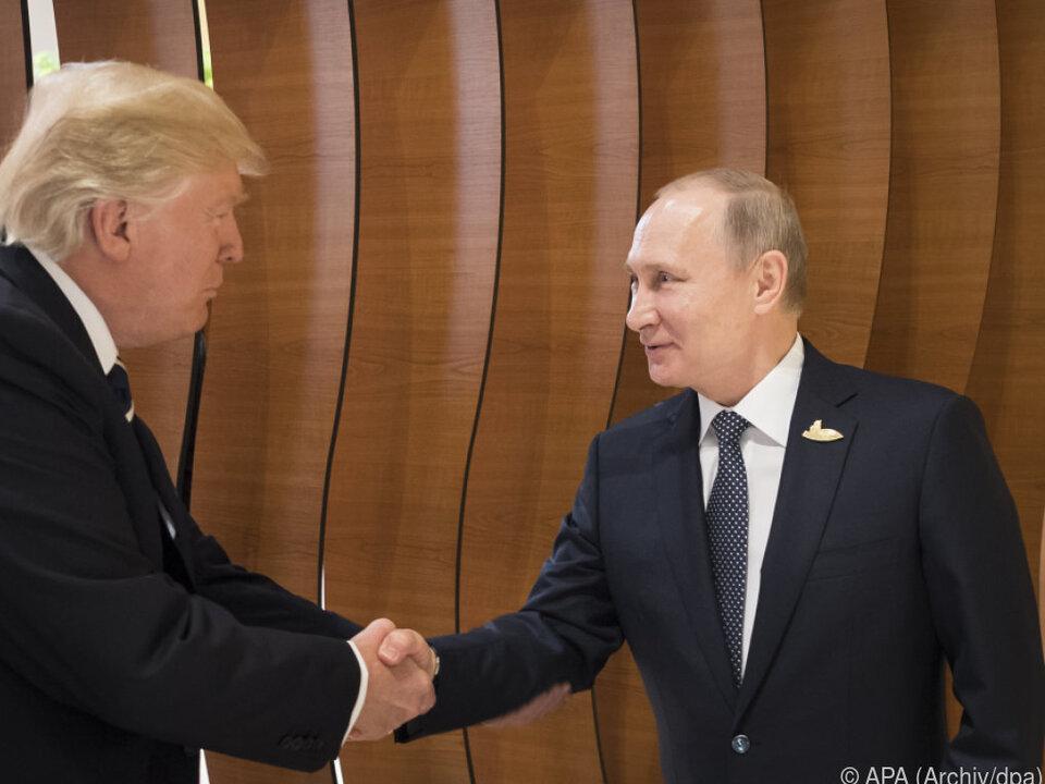Trump und Putin trafen sich bisher erst einmal