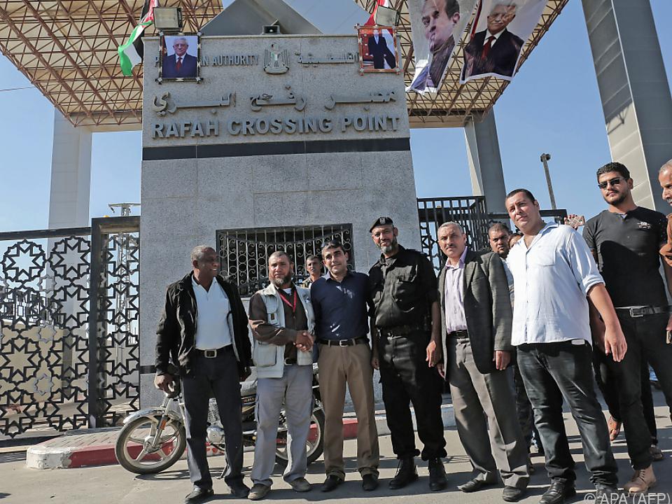 Übergabe der Kontrolle am Übergang Rafah nach Ägypten