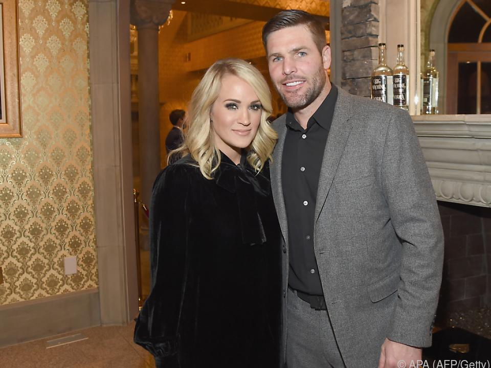 Underwood bedankte sich bei ihrem Ehemann Mike Fisher
