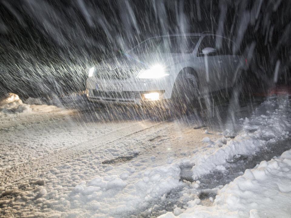 Wintereinbruch in Bayern und im Westen Österreichs