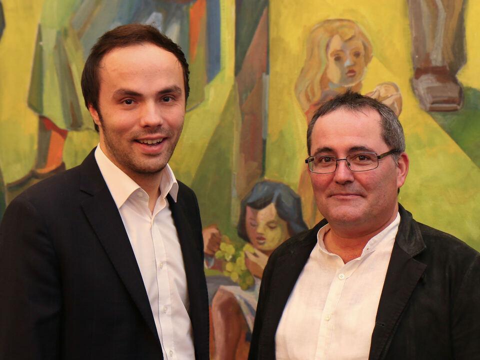 Landesrat Philipp Achammer und Gustav Tschenett