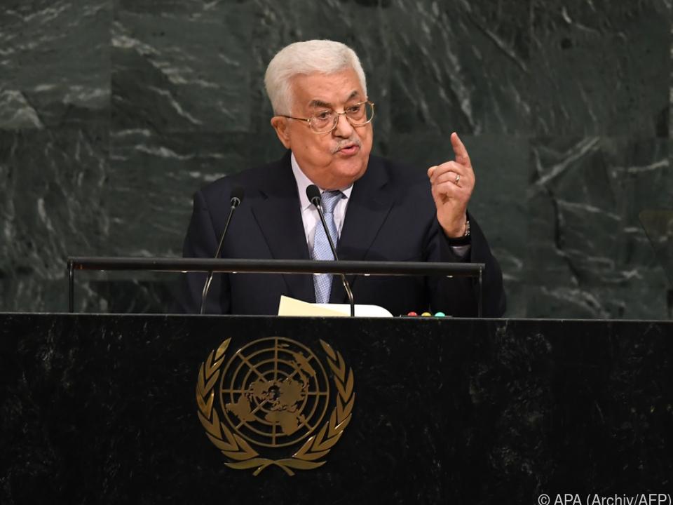 Abbas warnt USA vor Anerkennung