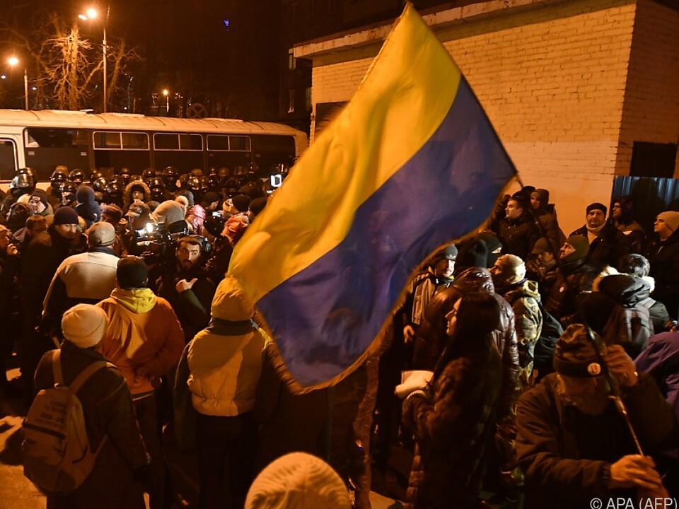 Anhänger von Saakaschwili fordern dessen Freilassung