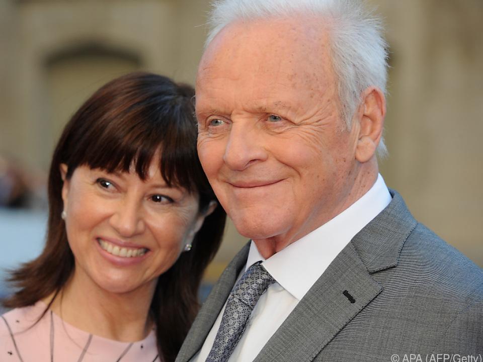 Anthony Hopkins mit seiner Frau Stella