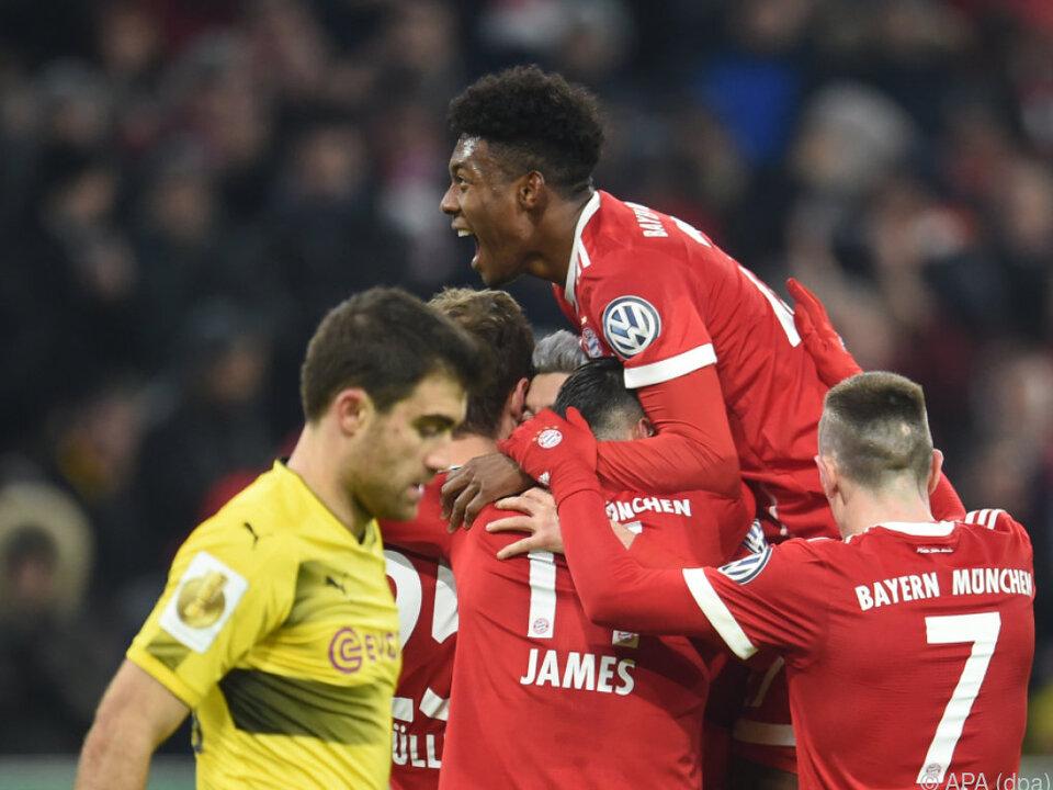 Bayern München zog ins Viertelfinale ein