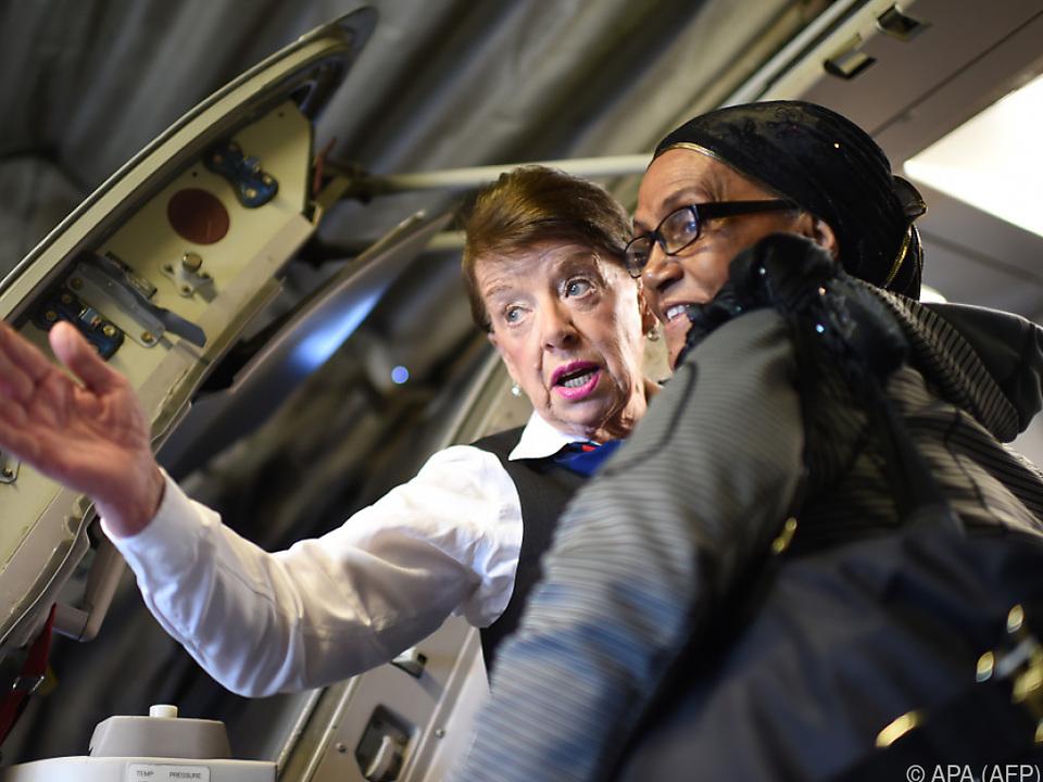 Bette Nash seit 60 Jahren um das Wohl der Fluggäste bemüht
