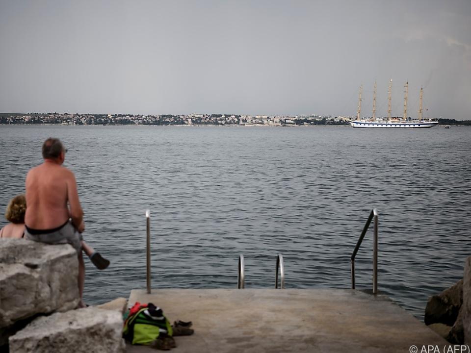 Blick auf die Bucht von Piran