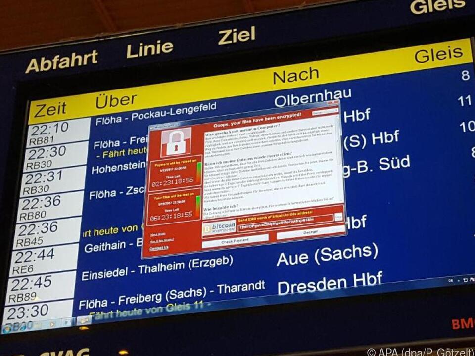 CIn Deutschland erwischte es zum Beispiel Rechner bei der Deutschen Bahn