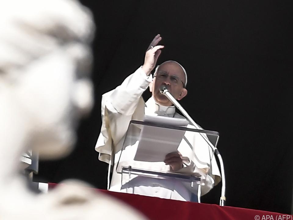 Der Papst beim Angelus-Gebet
