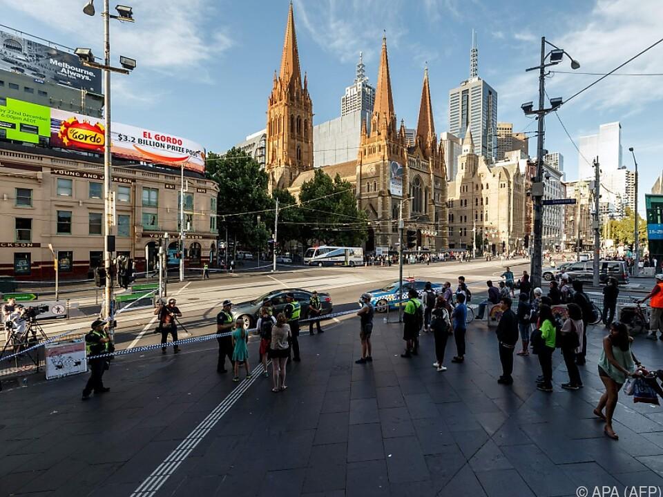 Die Tat geschah in der Innenstadt von Melbourne