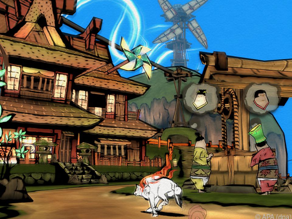 Shinto-Göttin Amaterasu rettet als Wolf die Welt