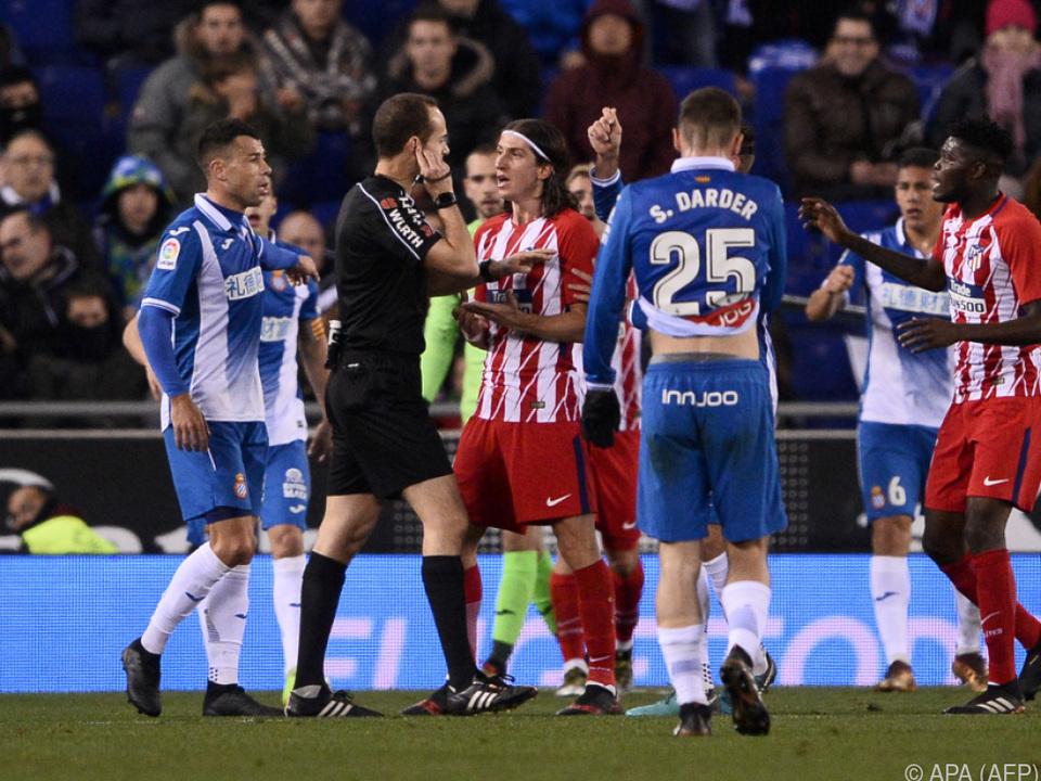 Hitziges Match zwischen Atletico und Espanyol