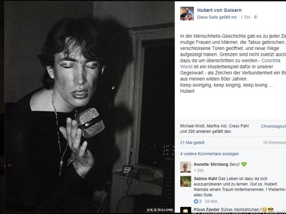 Hubert von Goisern postete diese Foto von sich auf Facebook