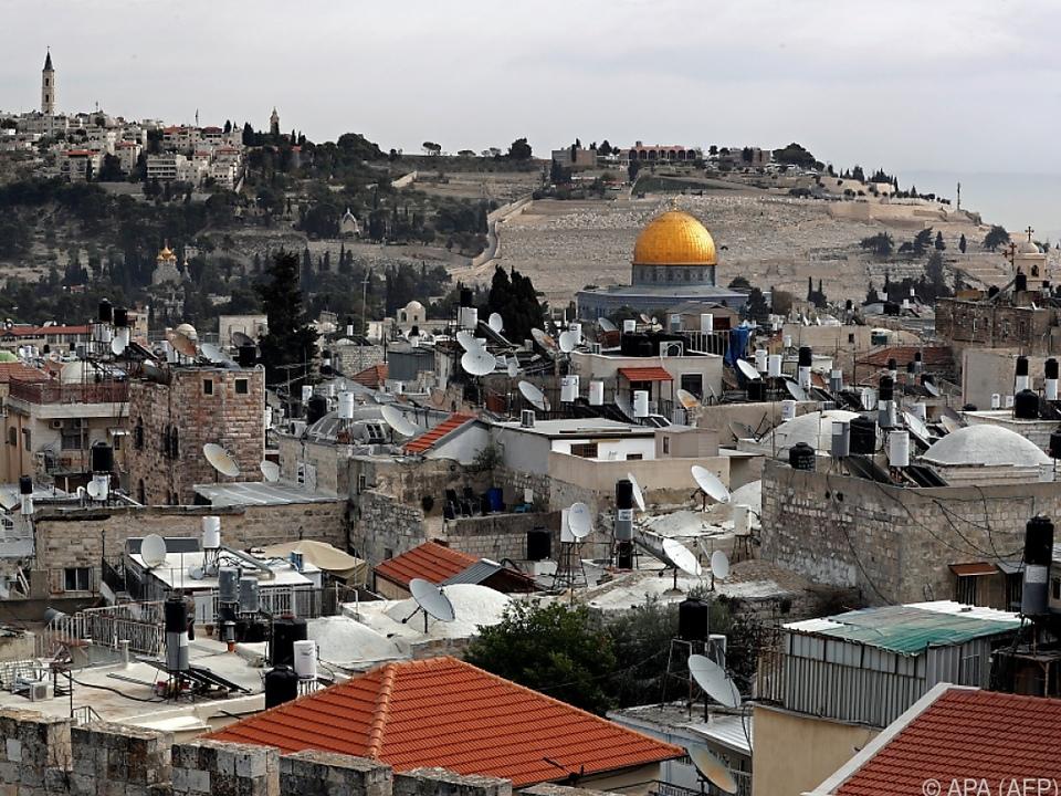Jerusalem-Status eine der heikelsten Fragen im Nahost-Konflikt