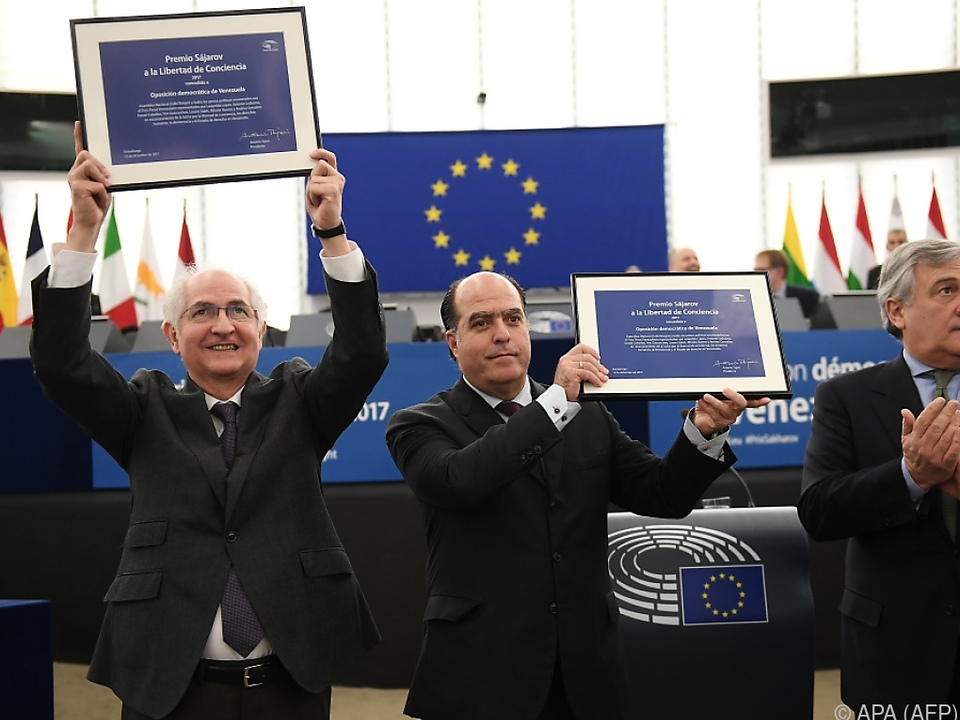 Julio Borges und Antonio Ledezma nahmen den Preis entgegen