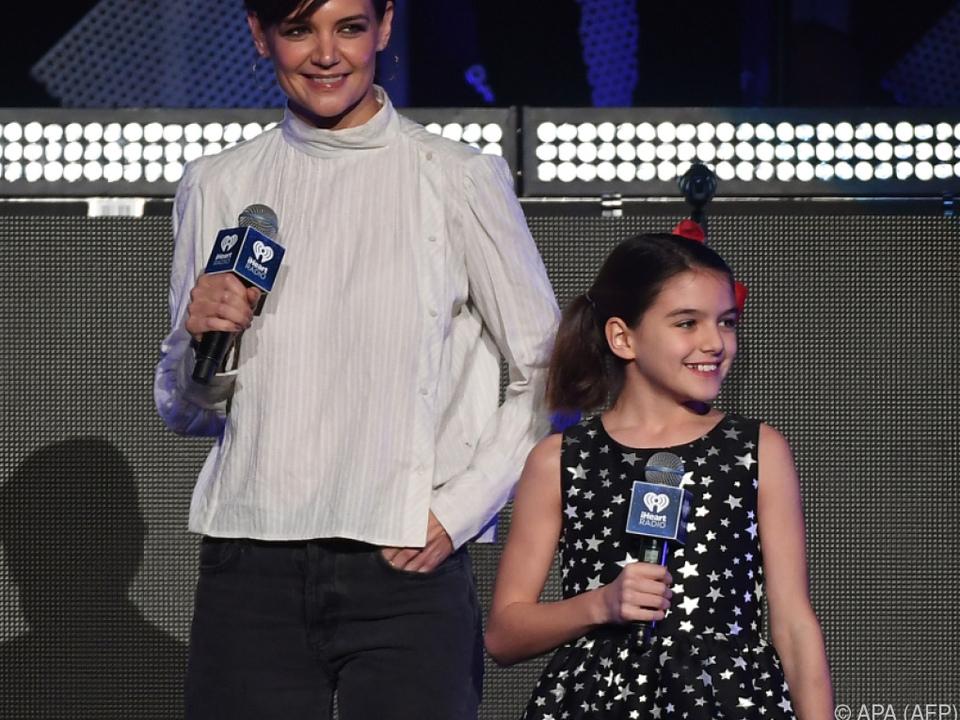 Katie Holmes und Tochter Suri im New Yorker Madison Square Garden