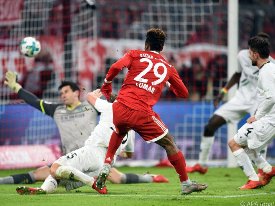 Kingsley Coman sorgte für den Treffer zum 2:1 für die Bayern