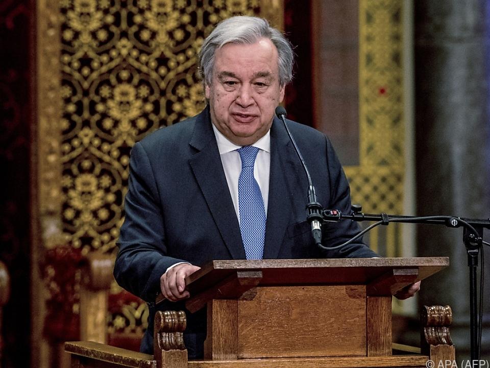 Klare Worte des UNO-Generalsekretärs