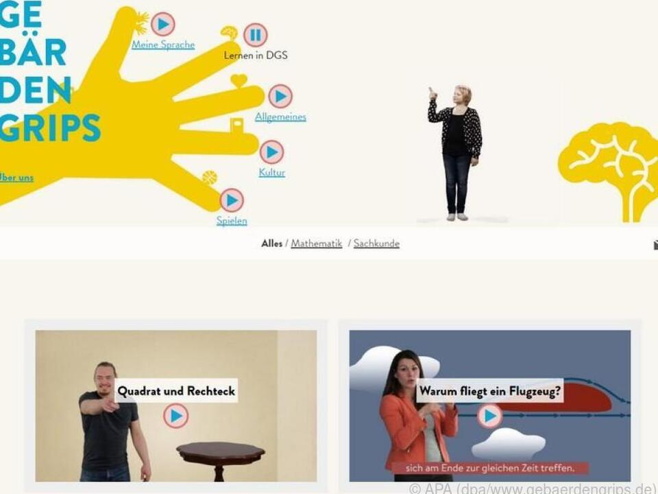 Lernvideos mit Untertitel und Übersetzung in Gebärdensprache